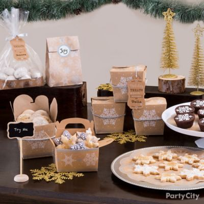Rustic Winter Cookie Exchange Tablescape