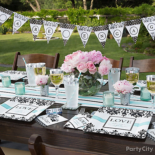 Teal And Black Engagement Ideas