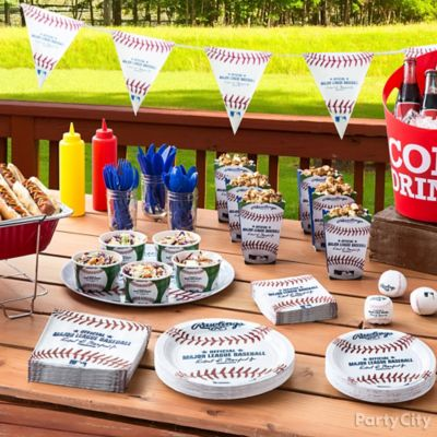 Baseball Party Food Table Idea