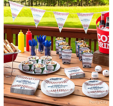 Baseball Party Food Table Idea