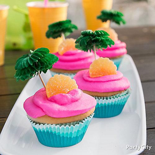 Tropical Cupcakes Idea