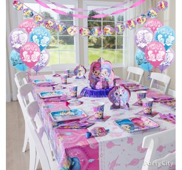 Shimmer and Shine Party Table Idea