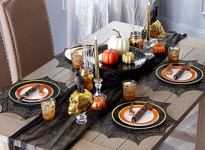 Crazy Dinner Party Ideas Part - 45: Elegant Halloween Dinner Ideas