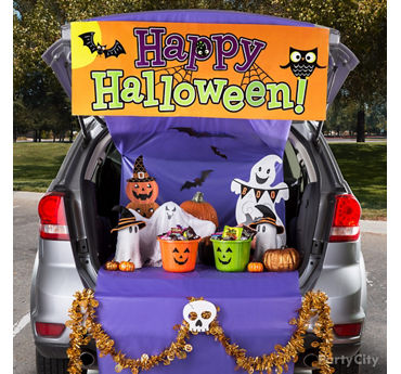 Ghost Playground Trunk or Treat Idea