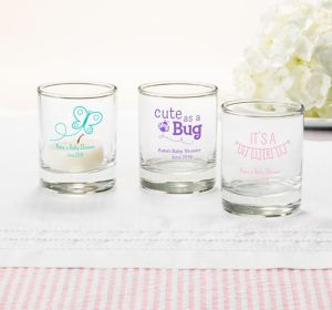 Baby Girl Personalized Baby Shower Shot Glasses (Printed Glass)