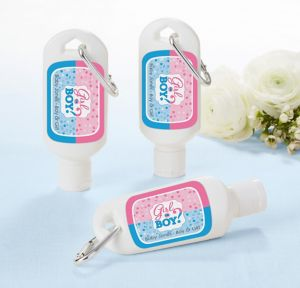 Girl or Boy Personalized Gender Reveal Sunscreen Favors (Printed Label)