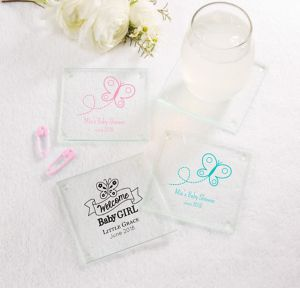 Personalized Glass Coaster, 12ct