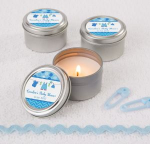 It's a Boy Personalized Baby Shower Candle Tins (Printed Label)