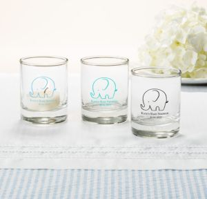 Little Peanut Boy Personalized Baby Shower Shot Glasses (Printed Glass)