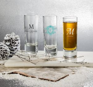 Personalized Tall Shot Glasses <br>(Printed Glass)