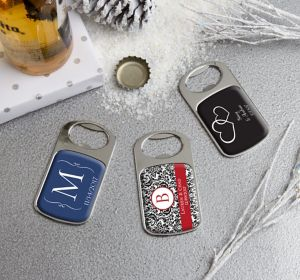 Personalized Bottle Openers - Silver <br>(Printed Epoxy Label)