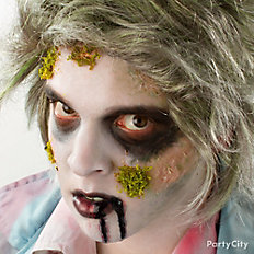 Mossy Zombie Makeup