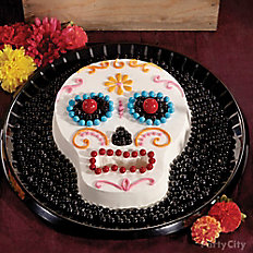 Day of the Dead Candy & Sugar Skull Cake
