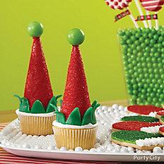 Elf Cap Cupcakes