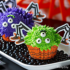 Friendly Spider-Monster Cupcake