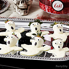 Scary Ghosts White Candy Covered Strawberries