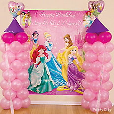 Princess Castle Balloon Column