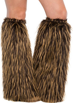 Adult Medieval Furry Leg Warmers