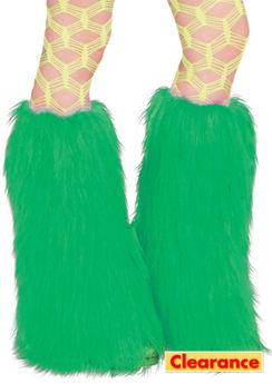 Ravewear Green Furry Leg Warmers