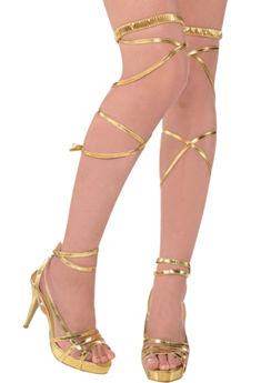 Gold Goddess Leg Wraps