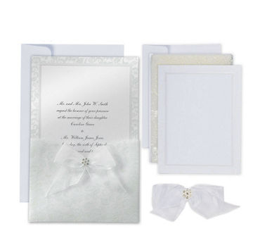 Happy Day Printable Wedding Invitations Kit 25ct
