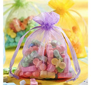 Multicolor Pastel Organza Baby Shower Favor Bags 12ct