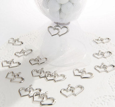 Heart Wedding Favor Charms