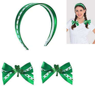 St. Patrick's Day Hair Accessory Set 3pc