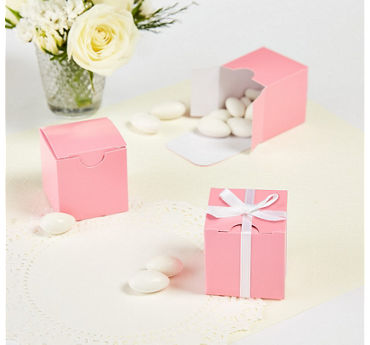 Pink Square Favor Boxes