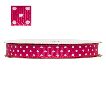 Bright Pink Polka Dot Ribbon