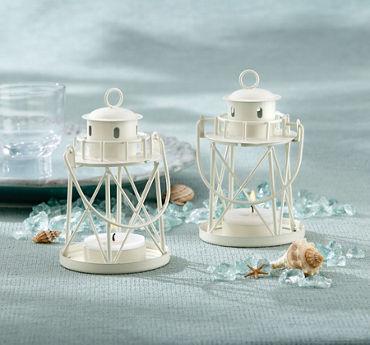 Mini White Lighthouse Candle Holder