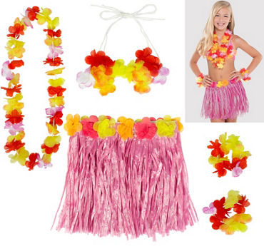 Child Pink Hula Kit 5pc
