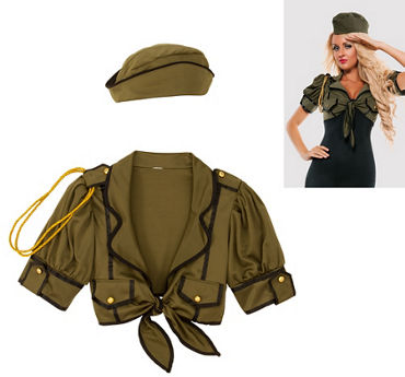 Adult Major Mischief Army Costume Accessory Kit 2pc