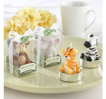 Born to Be Wild Baby Shower Tealight Candles 4ct