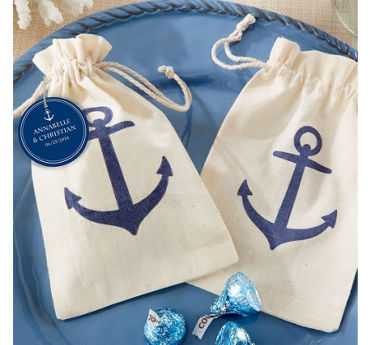 Anchor Muslin Favor Bags