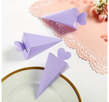 Lilac Cone Favor Boxes