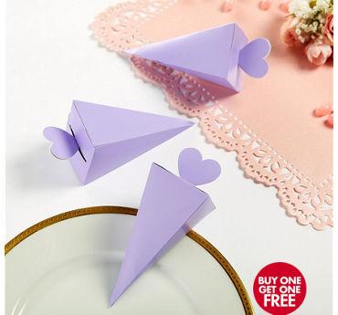 Lilac Cone Favor Boxes 50ct