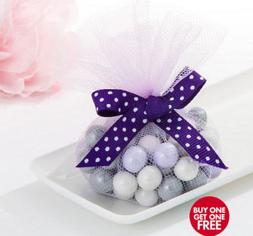 Lilac Tulle Circles 50ct