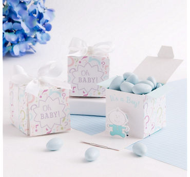 Baby Boy Gender Reveal Favor Boxes 24ct
