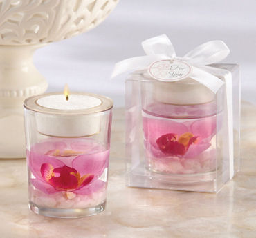 Elegant Orchid Tealight Candle Holder