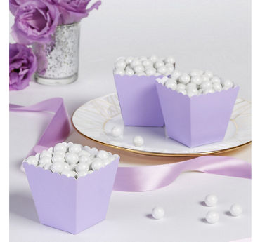 Lavender Scalloped Favor Boxes 100ct