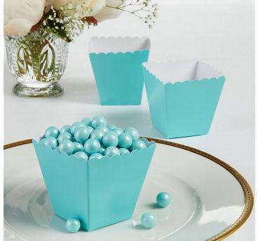 Robin's Egg Blue Scalloped Favor Boxes
