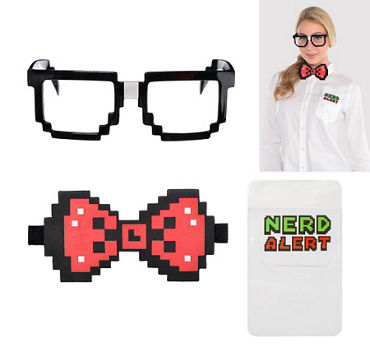 Geek Chic Nerd Costume Accessory Kit 3pc