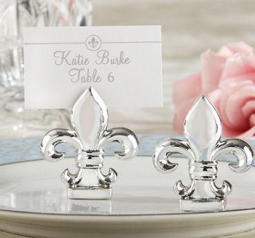 Silver Fleur-de-Lis Place Card Holders