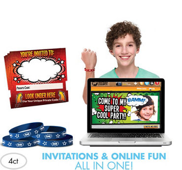 Comic Invite Bandz Online Party Invitation Wristbands Add-On Pack for 4