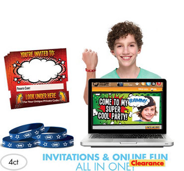 Comic Invite Bandz Party Invitation Wristbands Add-On Pack for 4