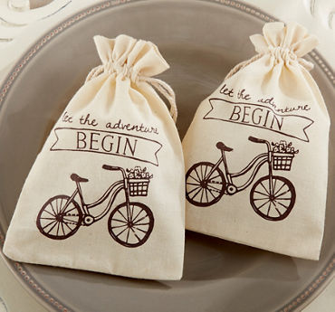 Bicycle Muslin Favor Bags