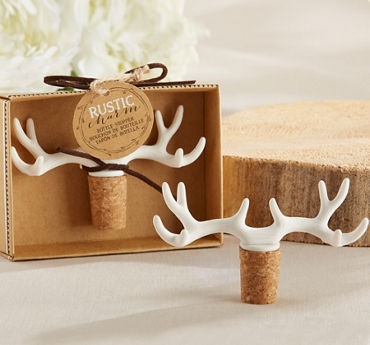 White Antler Wine Stopper