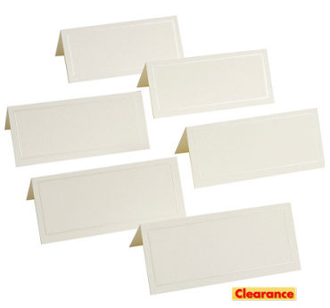 Ivory Pearlized Border Printable Place Cards 48ct