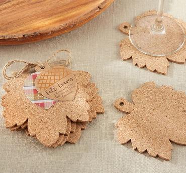 Leaf Cork Coasters 4ct